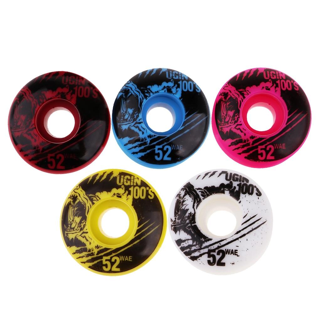 4Pcs Lightweight High Quality 4pcs/set 52x30mm Skateboard Wheels Durable PU Wheels Scooter Parts Skates Accessories