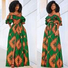 Африканские платья комплект из двух предметов для женщин африканская