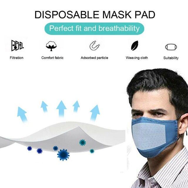 100Pcs/Lot Universal Disposable Mask Replacement Pad Fit Flu Masks New Arrival 2