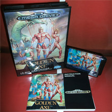 Sega Megadrive Genesis 비디오 게임 콘솔 용 골든 액스 EU 커버 및 설명서 16 비트 MD 카드