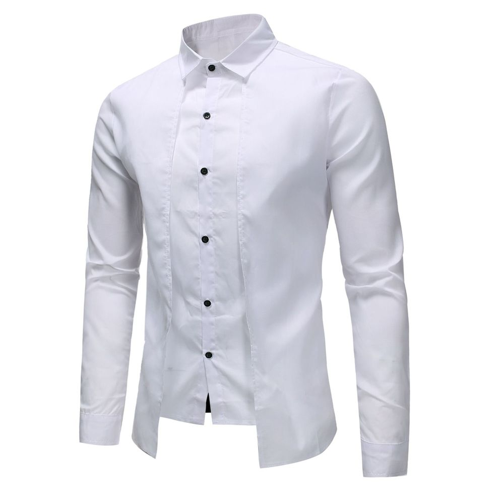 ZOGAA 2021 High Quality Men Slim Shirt 100% Cotton Men's Fashion Business Casual Pure Shirt 4 Color Mens Shirts Casual Slim Fit Men Men's Clothings Men's Shirts Men's Tops