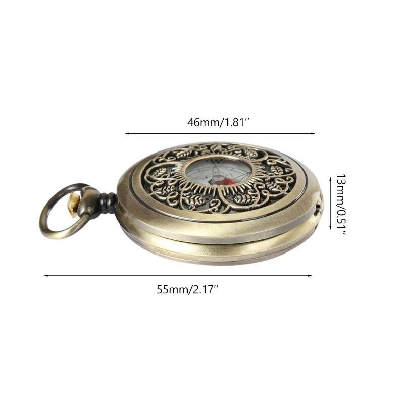 2020 New Vintage Bronze Compass Pocket Watch Design Outdoor Hiking Navigation Kid Gift