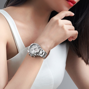 Image 5 - 2020 New Fashion Female Business ladies watch Full Steel Luxury Ladies Wristwatches TOP Quality Brand Design Women Watches 3ATM