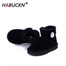 HABUCKN High Quality Australia Classic Fashion Genuine Leather Snow Boots Boy an