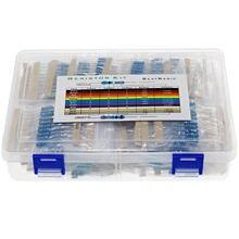 1000 pçs/caixa 100 valores 1 ohm-1M ohm 1w 1% resistência resistor filme de metal variedade kit conjunto