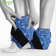 Pacote de gelo de cinta de tornozelo reutilizável para terapia quente ou fria flexível gel grânulo pé pacote frio lesões esportivas alívio da dor apoio no tornozelo