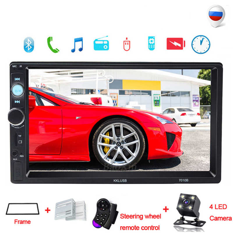"2 Din Auto Radio 7 ""Hd Speler MP5 Touch Screen Digitale Display Bluetooth Multimedia Usb 2din Autoradio Auto Backup monitor"