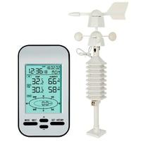Relógio sem fio da estação meteorológica de shgo HOT-RF 433 mhz com velocidade do vento e sensor de direção