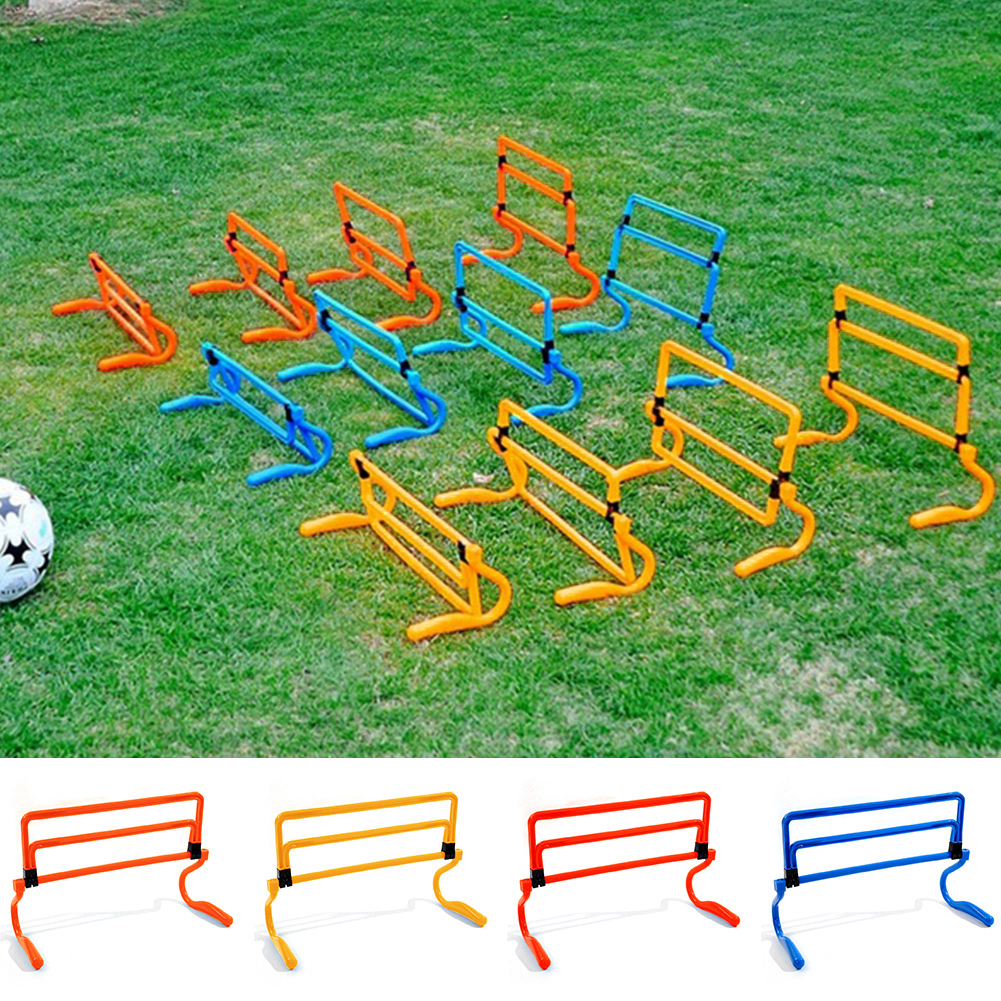 Foldable Detachable Teenager Football Training Obstacle Frame Adjustable Height Training Sensitive Speed  Football Training Tool