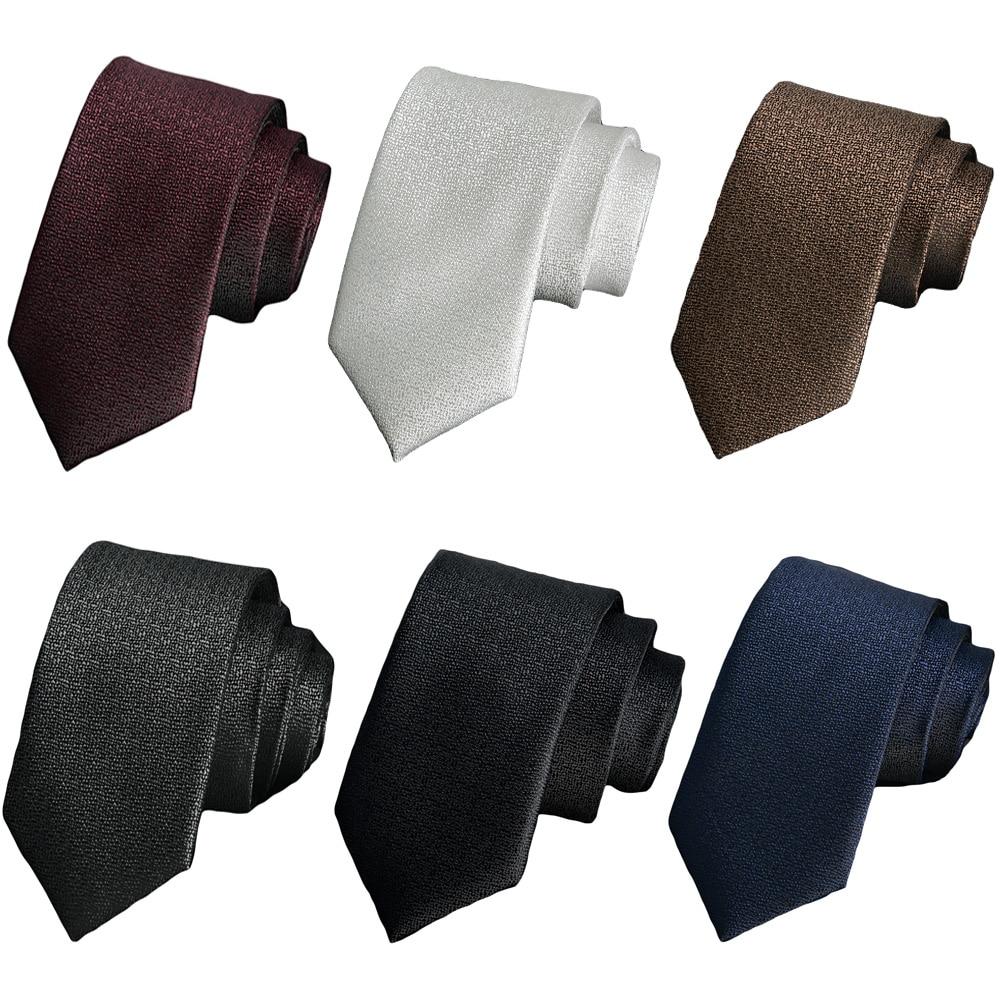 Мужские Узкие жаккардовые тканые галстуки 6 см галстуки для свадебной вечеринки Высокое качество Галстуки