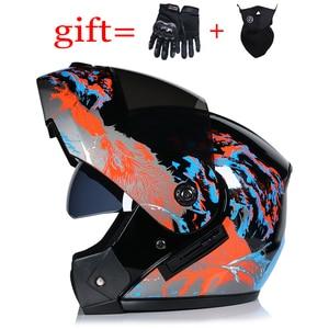 Image 5 - VURTUR 903 DOT certification fashion flip up motorcycle helmet dual visor system full face helmet fit for men women S M L XL