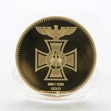 Памятные монеты немецкой Второй мировой войны 1891-1944 года, позолоченные, Эрвин ромммел, армейский Маршал, памятные монеты для сувениров