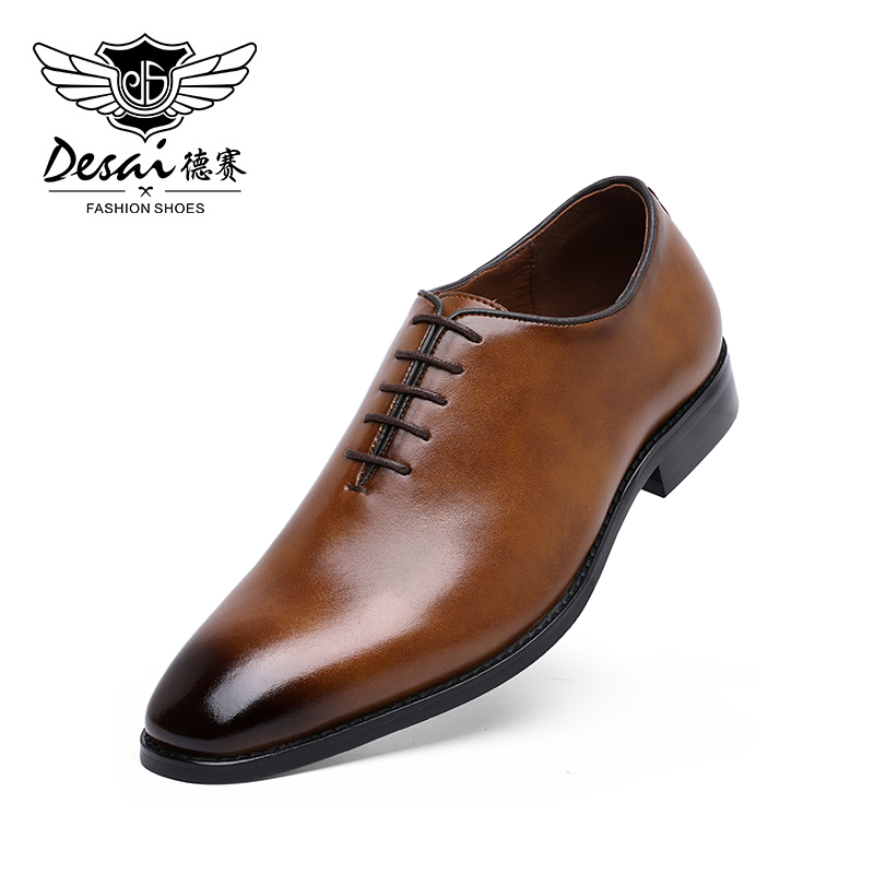 DESAI Men's Business Dress Casual Shoes For Men Soft Genuine Leather Fashion Mens Comfortable Oxford Shoes
