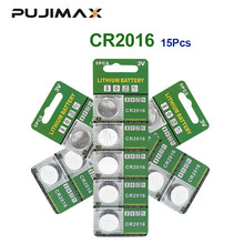 Pujimax original 15 pcs bateria de lítio pçs/lote 3 v li-ion cr2016 botão bateria relógio moeda baterias cr2016 dl2016 ecr2016 gpcr