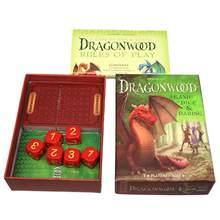 Tarô cartas conjunto de madeira de dragão tarô baralho oracle cartões festa entretenimento mesa cartões de jogo com inglês guidebook nova chegada