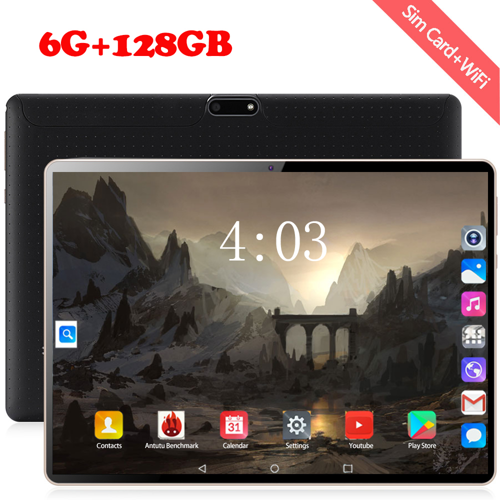 10 Inch Tablet Phone Call 1920*1200 5000mAh 10 Deca Core Android 8.0 Tablet Pc 4G Lte 6 GB RAM 128GB ROM Dual Cameral 5MP+ 2MP