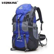 Ücretsiz şövalye 50L açık yürüyüş sırt çantaları, su geçirmez seyahat dağ sırt çantası, Trekking kamp tırmanma çantaları, spor yürüyüş çantaları