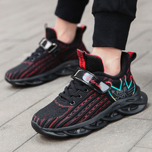 2020 Kids Running Shoes Size 27-39 For Big Boys Autumn Fashion Net surface Breathable Sports Sneakers Boys Children School Shoes