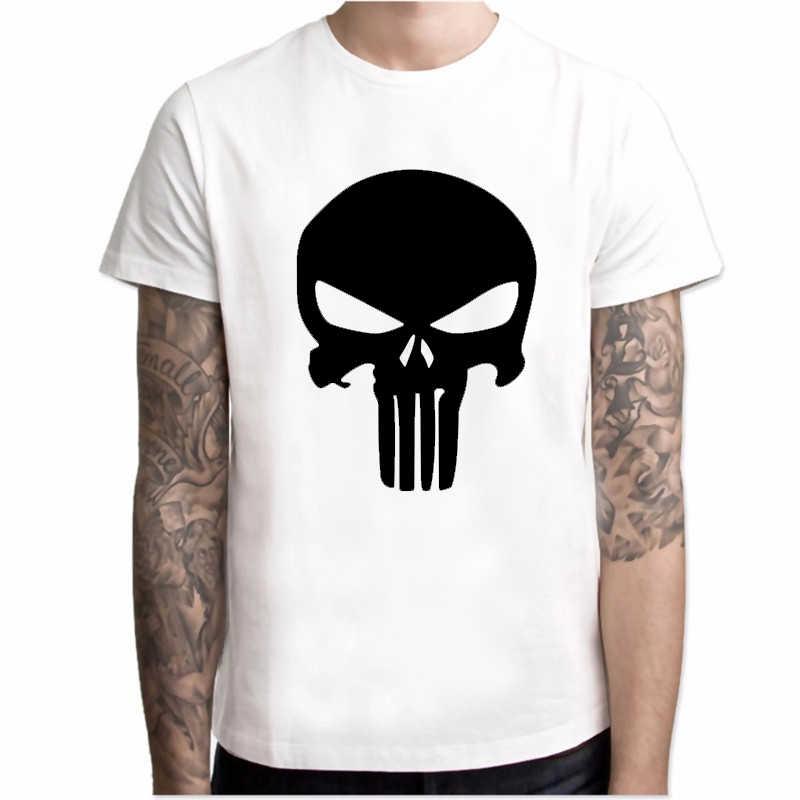 Nuova maglietta di Estate Degli Uomini di Punisher Skull stampa a colori uomo streetwear hip hop Cena Eroe maglietta di modo degli uomini pantaloni a vita bassa top