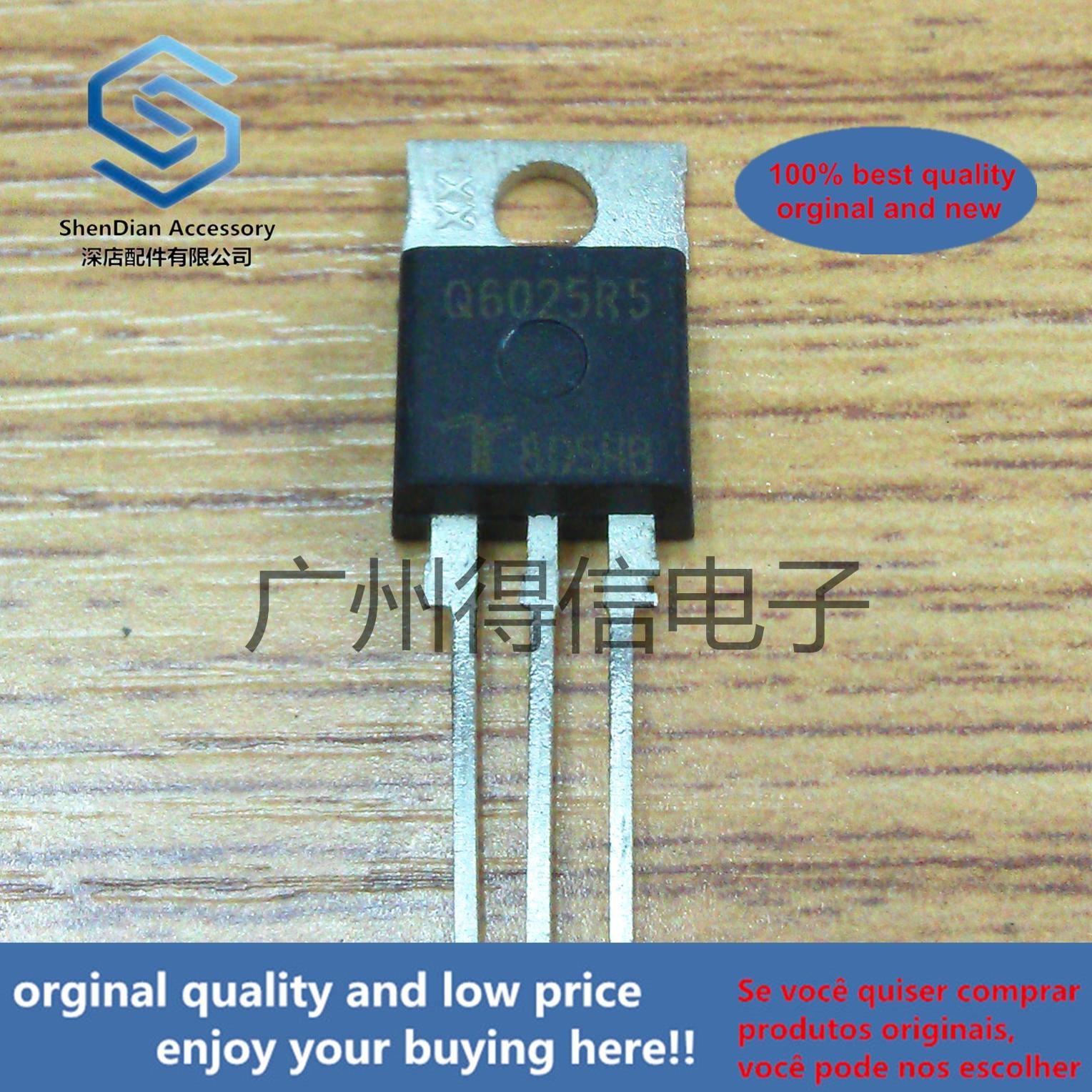 5pcs 100% Orginal New Q6025R5 Q6025 Imported Triac TO-220  Real Photo