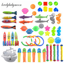 Jeu de plongée en piscine pour enfants, jouet à lancer de fusée requin, amusant, accessoires de dauphin, 1 pièce