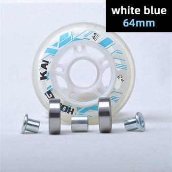 64mm 68mm 70mm roller skates wheel + ABEC7 608zz skating bearing + spacers bushing blue red pink black 64 68 70 inline tyre kids