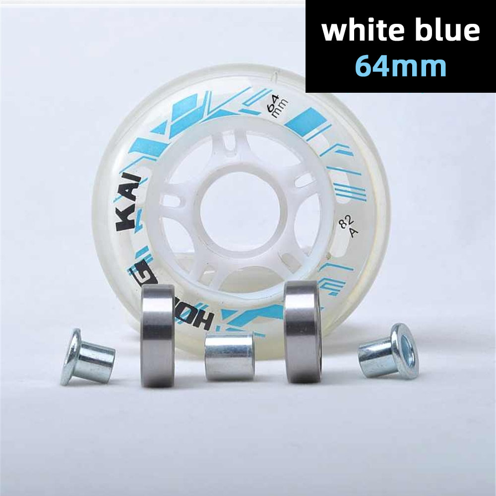 64mm 68mm 70mm Roller Skates Wheel + ABEC7 608zz Skating Bearing + Spacers Bushing Blue Red Pink Black 64 68 70 Inline Tyre Kids
