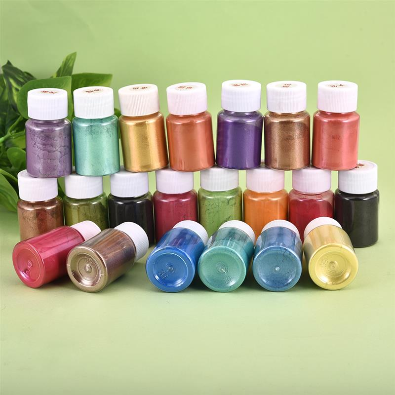 Multi Colors Mica Powder Epoxy Resin Dye Pearl Pigment Natural Mica Mineral Powder Handmade Soap Coloring Powder in Bottle 3