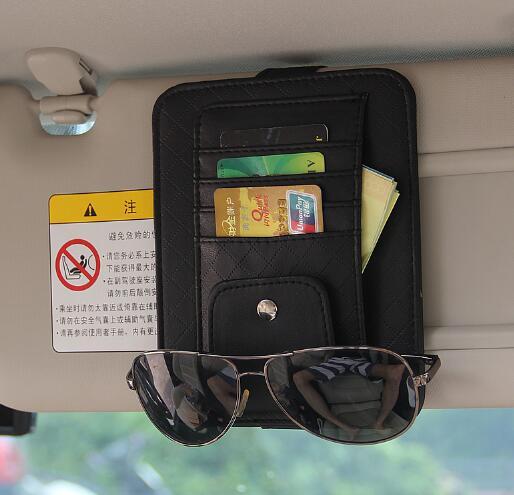 Eye Glasses Card Pen Holder Clip Car Accessory Sun Visor Sunglasses for BMW//Audi