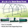 AULAYSED 600x300x220CM Garden Multi-use Support Arch Frame for Climbing Plants Flowers Vegetables Greenhouse Frame flash sale