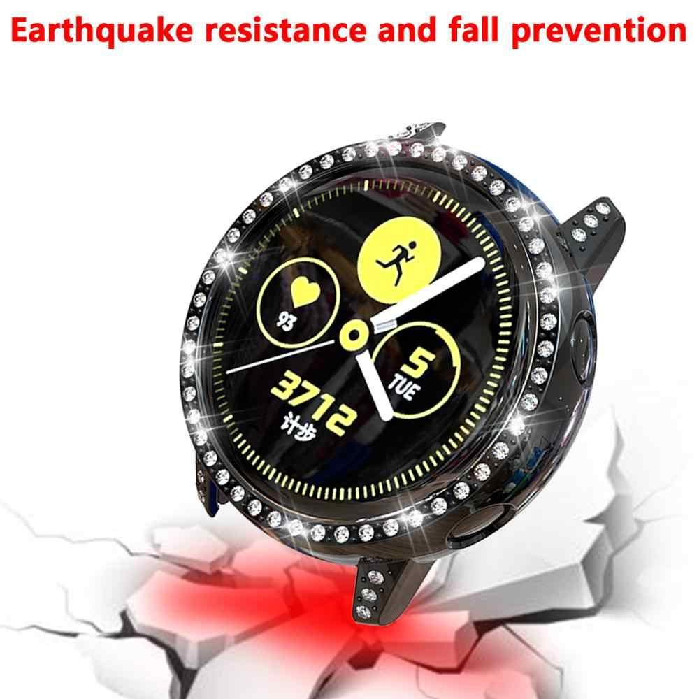 ساعة ماسية حقيبة لهاتف سامسونج galaxy watch نشط/SM R500 حالة غطاء الوفير الملونة شفافة TPU حالة وقائية