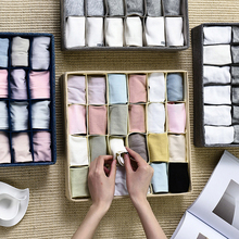 24 Grid Foldable Underwear Divider Boxes for Bras Socks Drawer Wardrobe Closet Clothing Storage Case Cabinet Dormitory Organizer