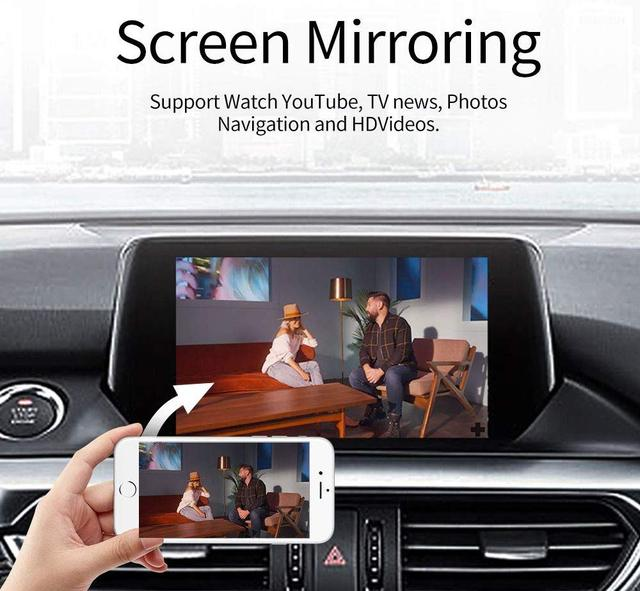 Carplay de enlace inteligente con cable USB de Apple CarPlay Dongle para Android coche Mini USB Carplay Stick con Android enchufe Auto y jugar