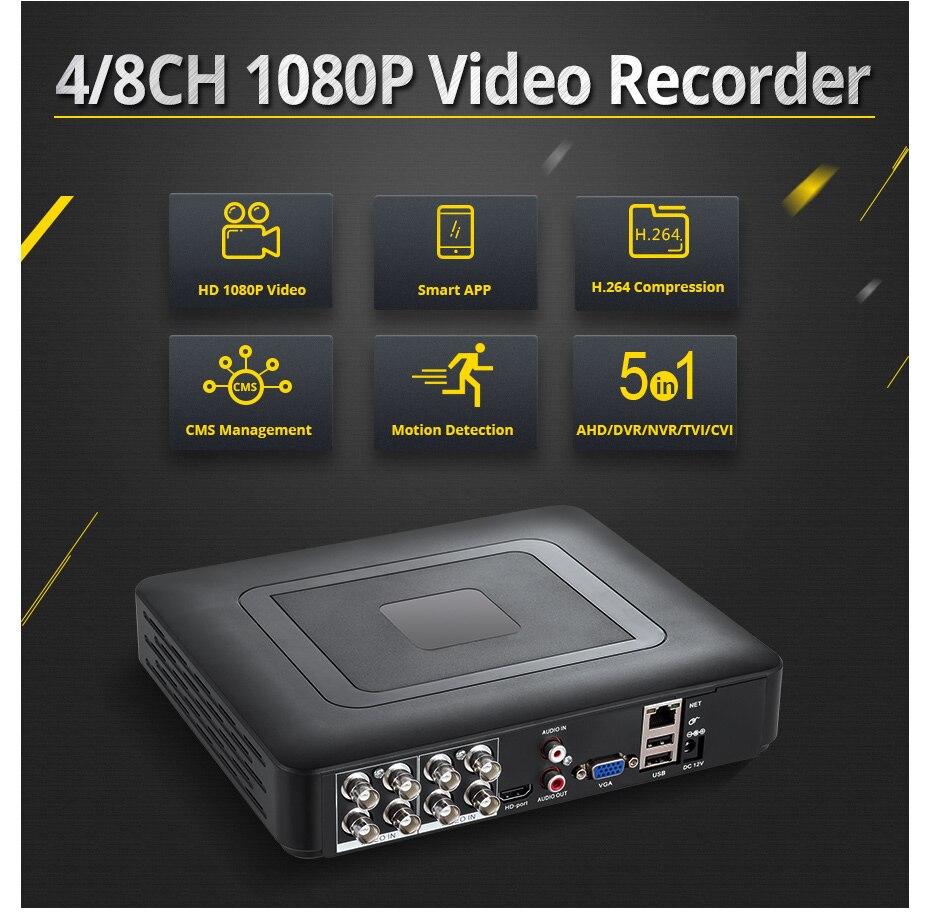 Image 2 - 720P HDMI AHD CCTV DVR 1.0MP IR Outdoor Security Camera DIY 16CH CCTV System 1200 TVL  Metal Housing Camera Surveillance KitSurveillance System   -