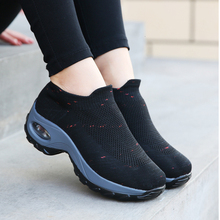 Sock Sneakers Platform-Shoes Sports Breathable Women Air-Cushion Mesh Increasing Height