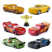 Дисней Тачки 2 3 Молния Маккуин Джексон Сторм-матер 1:55 литья под давлением металлического сплава модели автомобиля игрушки Рождественский подарок для детей игрушки мальчиков