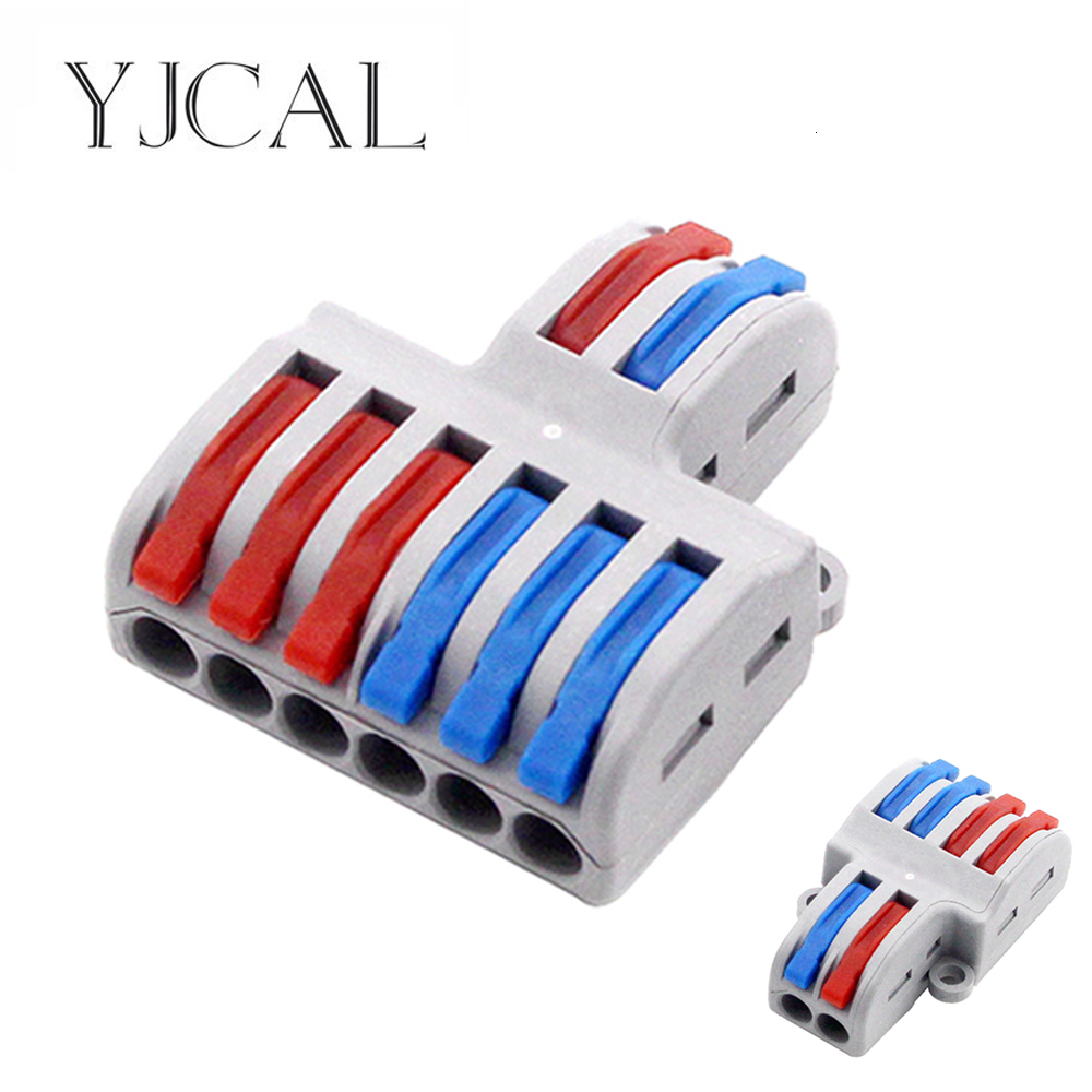 New Type Wire Connector 2 In 4/6 Out Wire Splitter Terminal Electrico Block Compact Wiring Splicing Conector Eletrico