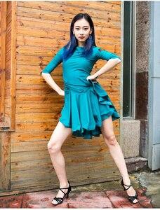Image 5 - EW ชุดละตินผู้ใหญ่ปฏิบัติ 2020 ผู้หญิงโมเดิร์นเต้นรำสุภาพสตรีปาร์ตี้เต้นรำชุดเต้นรำละตินเสื้อผ้าผู้หญิง