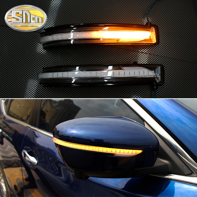 Dynamic LED Turn Signal Light For Nissan X trail T32 2014   2018 Side Wing Rearview Mirror Indicator Sequential Blinker Lamp