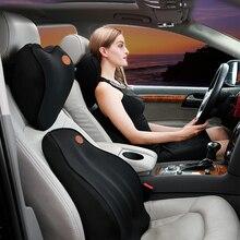 Подушки для автомобилей, подушка для спины, подушка для автомобильного сиденья, поясничная поддержка для офисного стула, подушка для автомобиля, универсальная 3D пена с эффектом памяти