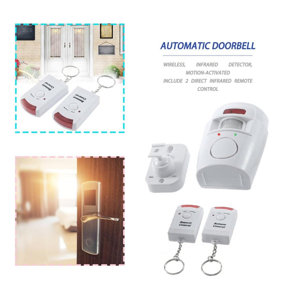 105BD Sound Remote Control Wireless Infrared Motion Detector Burglar Sensor Alarm Security Home System Adjustable Mounting