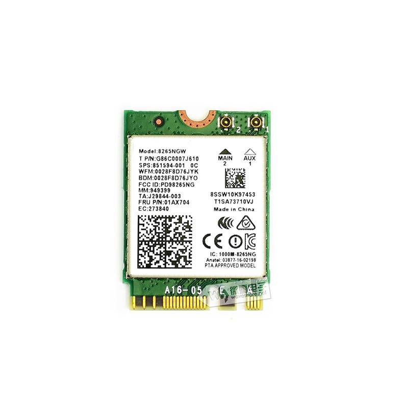Jetson Nano Wireless Network Card Dual Band WIFI Bluetooth Intel 8265AC 8265NGW