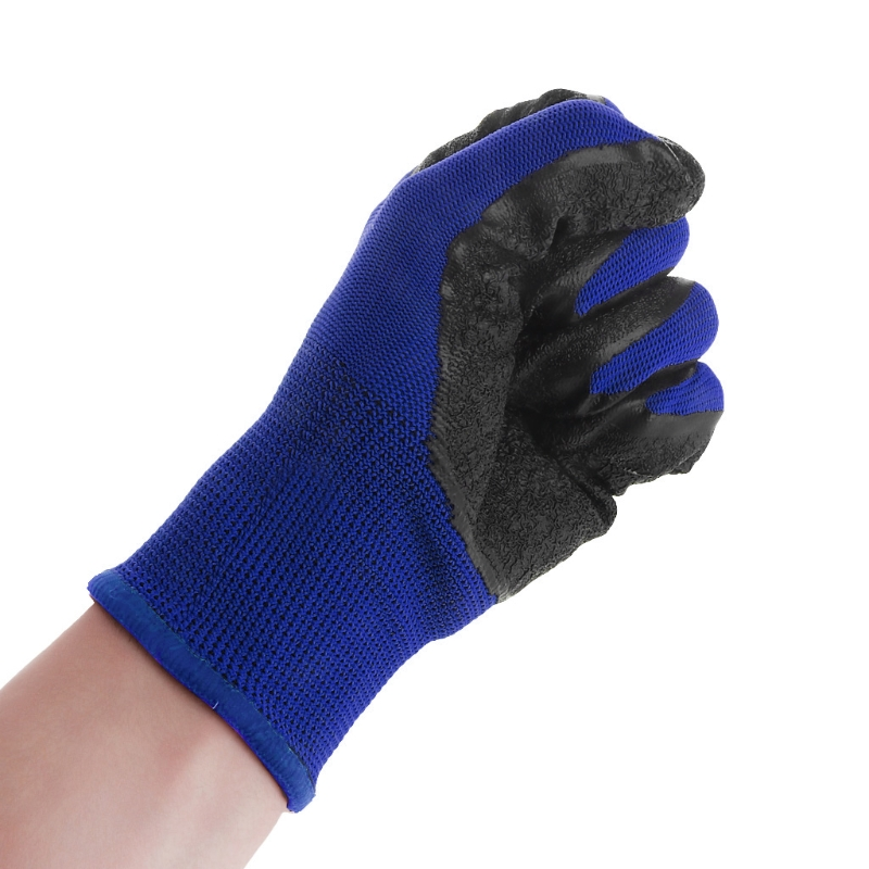 NEW LATEX COATED NYLON BUILDERS GARDEN WORK GLOVES GRIP