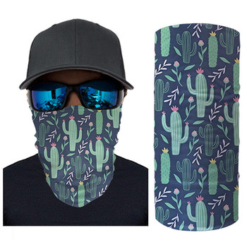 цена Women Men Multicolor Magic Scarf Cactus Print Anti Dust Headband Fashion Half Face Mask Neck Gaiter Wristband Chusta Na Glowe онлайн в 2017 году