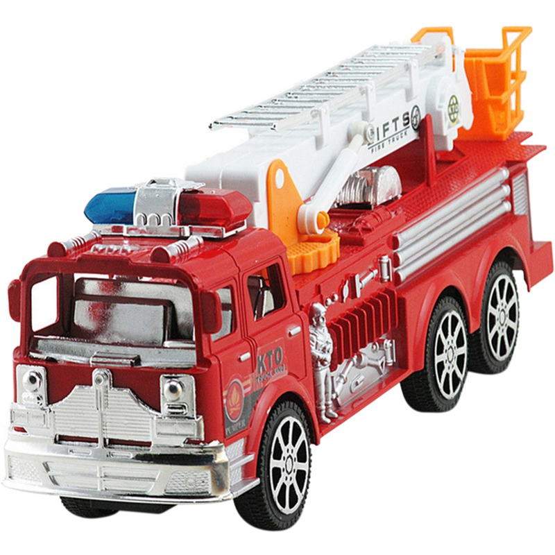 Simulation Fire Engine Pull Back Toy Inertial Fire Truck Toy Children's Toy Car Large Inertia Simulation Fire Truck Ladder Model