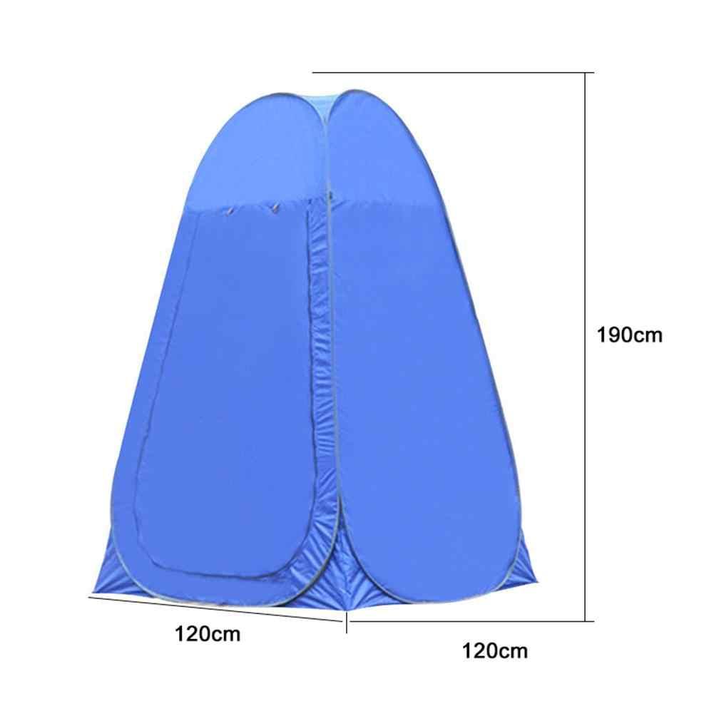 Pop Up namiot prysznicowy Outdoor Camping namiot toaletowy Chang Room namiot prysznicowy z torba do przenoszenia ruchoma łazienka prywatność schronisko toaletowe