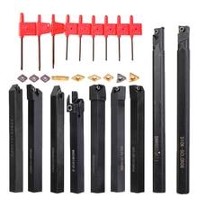 9pcs 10mm Shank Lathe Boring Bar Turning Tool Holder Set With Carbide Inserts Tool Set