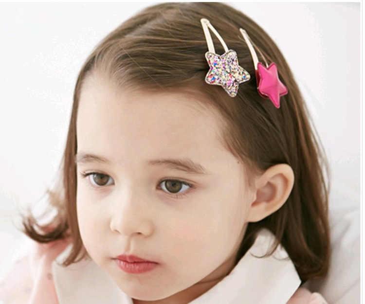 67Color 2PC lovely Children Hair Clips BB Hair Pins Heart Children Barrettes Hair accessories Head Wear