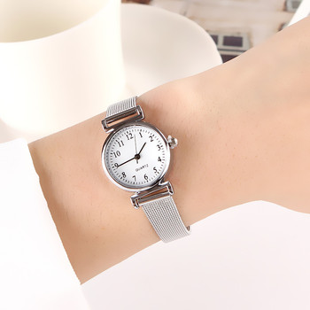 Fashion Quartz Watch For Women Luxury Female Watches Clock Wrist White Stainless Steel Band Classic Daily Gifts - discount item  34% OFF Women's Watches