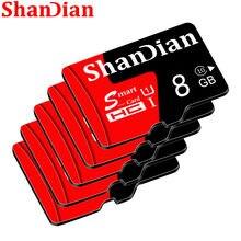 Cartão esperto do sd de shandian 16gb 32gb classe 10 microsd de alta velocidade mini cartão para telefones e câmera capacidade real 64gb cartão de memória